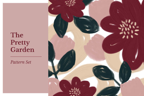 The Pretty Garden Seamless Pattern Set Graphic Patterns By Bron Alexander - Image 1
