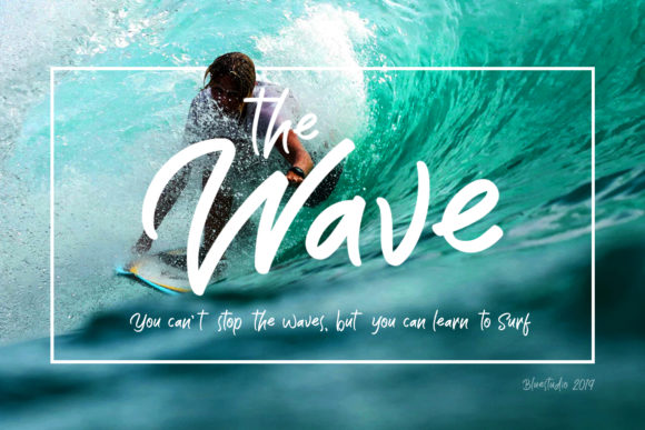 Print on Demand: The Wave Display Font By Bluestudio - Image 1