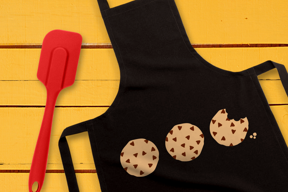 Download Free Three Chocolate Chip Cookies Graphic By Designedbygeeks for Cricut Explore, Silhouette and other cutting machines.