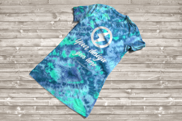 Tie Dye Tee Product Mockup Graphic Product Mockups By RisaRocksIt - Image 2