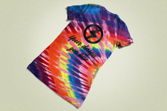 Tie Dye Tee Product Mockup Graphic Product Mockups By RisaRocksIt - Image 3