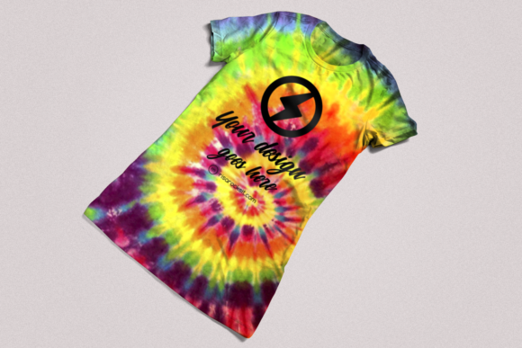 Tie Dye Tee Product Mockup Graphic Product Mockups By RisaRocksIt - Image 4