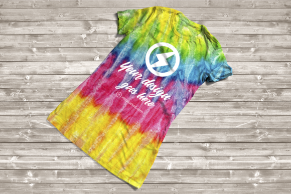Tie Dye Tee Product Mockup Graphic Product Mockups By RisaRocksIt - Image 5