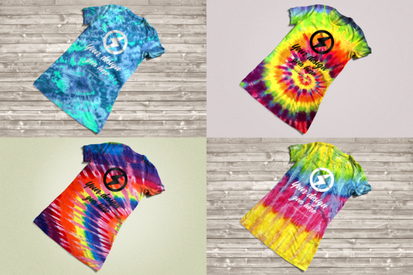 Tie Dye Tee Product Mockup Graphic Product Mockups By RisaRocksIt - Image 1