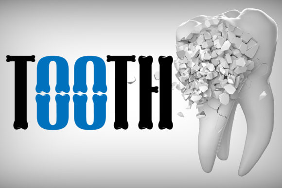 Tooth Decorative Font By da_only_aan