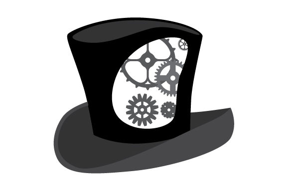Tophat with Gears Inside the Design Steampunk Craft Cut File By Creative Fabrica Crafts