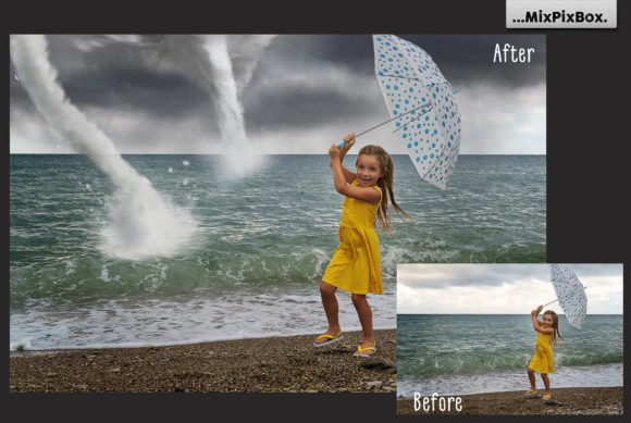 Print on Demand: Tornado Photo Overlays Graphic Layer Styles By MixPixBox - Image 3