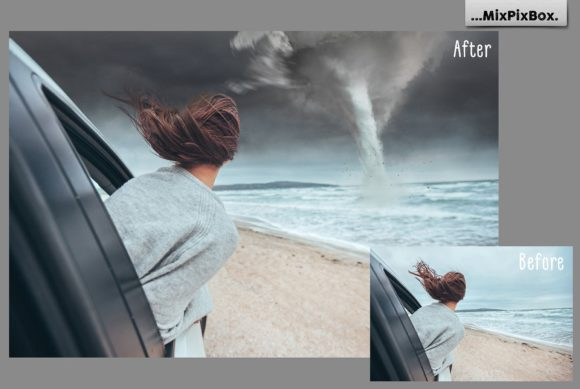 Print on Demand: Tornado Photo Overlays Graphic Layer Styles By MixPixBox - Image 4