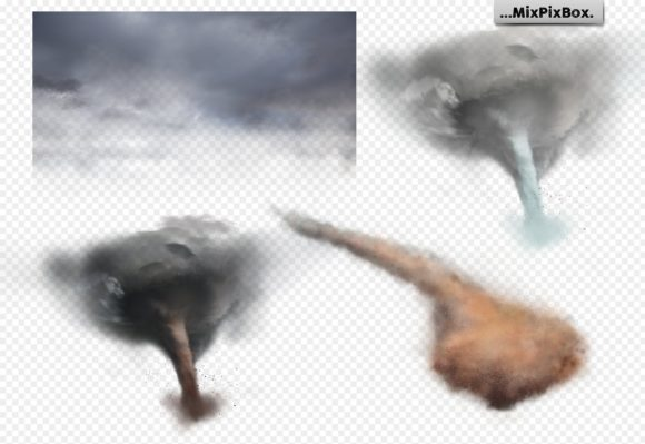Print on Demand: Tornado Photo Overlays Graphic Layer Styles By MixPixBox - Image 6