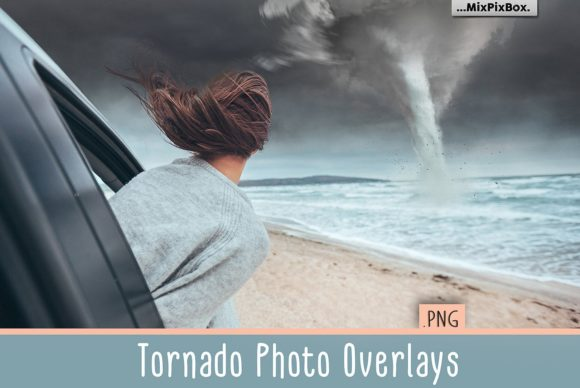 Print on Demand: Tornado Photo Overlays Graphic Layer Styles By MixPixBox