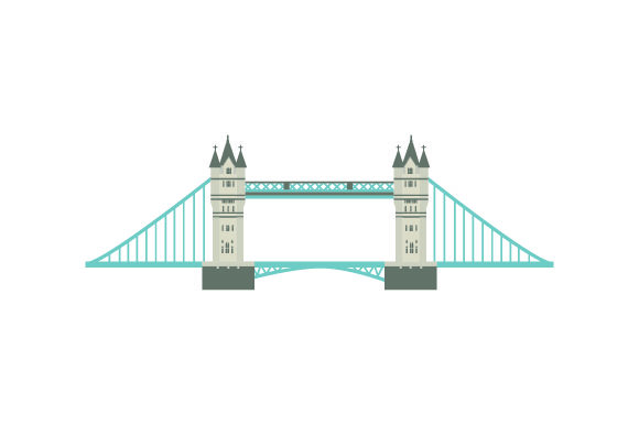 Tower Bridge UK Designs Craft Cut File By Creative Fabrica Crafts