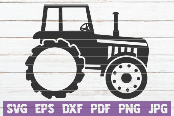 Tractor Monogram SVG Cut File Graphic Graphic Templates By MintyMarshmallows