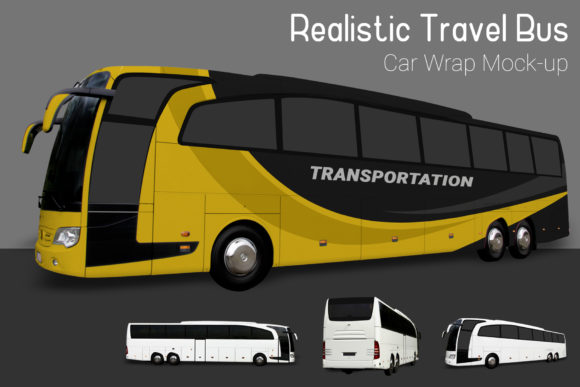 Travel Bus Mock-Up Graphic By gumacreative