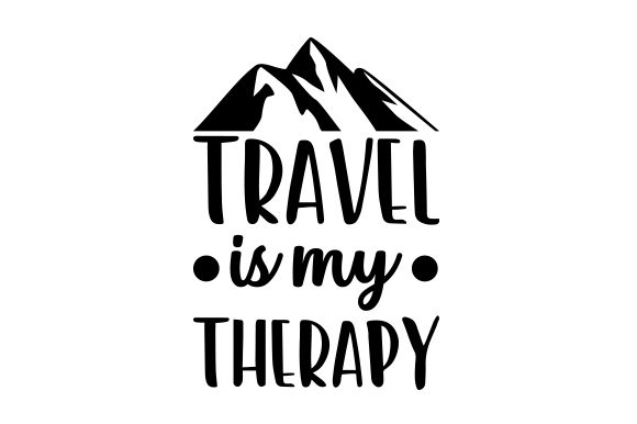 Travel is My Therapy Craft Design By Creative Fabrica Crafts Image 1