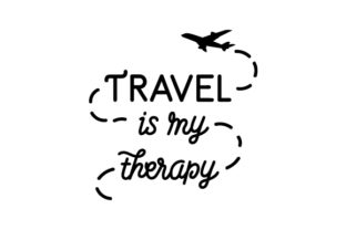Travel is My Therapy Travel Craft Cut File By Creative Fabrica Crafts
