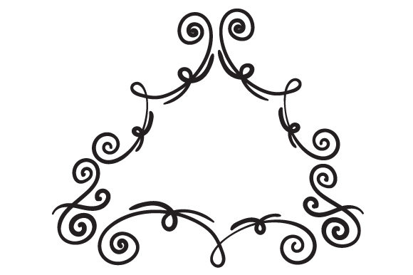 Download Free Triangle Shaped Line Art Doodle Frame Svg Cut File By Creative for Cricut Explore, Silhouette and other cutting machines.