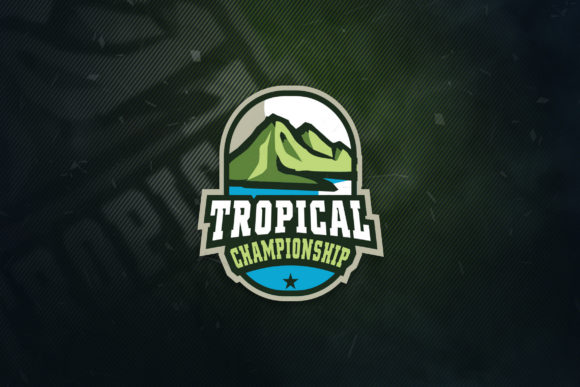 Print on Demand: Tropical Championship Sport Logo Graphic Logos By ovoz.graphics - Image 1