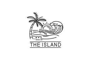 Download Free Tropical Island Graphic By Sabavector Creative Fabrica for Cricut Explore, Silhouette and other cutting machines.