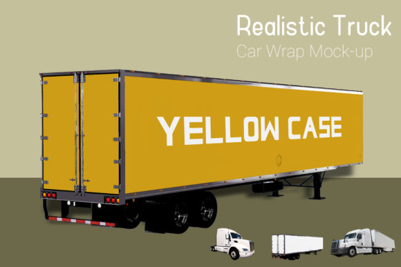 Truck with Container Mock-up Graphic By gumacreative Image 2