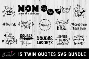 Twin Quote SVG Bundle Graphic By usefulbeautiful