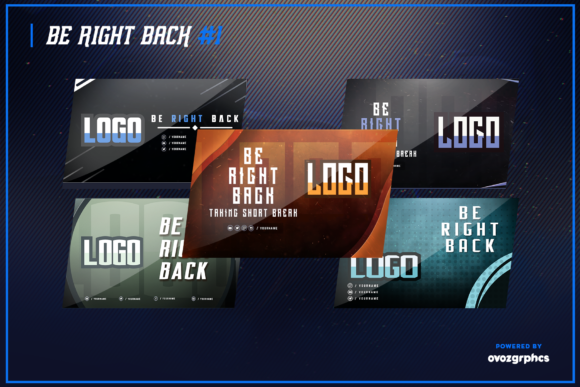 Print on Demand: Twitch Layout Bundle Graphic Graphic Templates By ovoz.graphics - Image 3