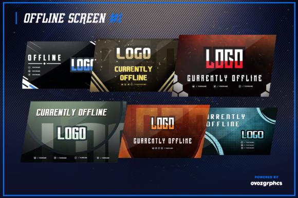 Print on Demand: Twitch Layout Bundle Graphic Graphic Templates By ovoz.graphics - Image 5