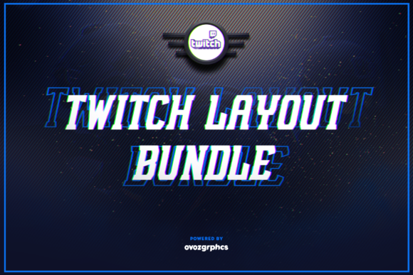 Print on Demand: Twitch Layout Bundle Graphic Graphic Templates By ovoz.graphics - Image 1
