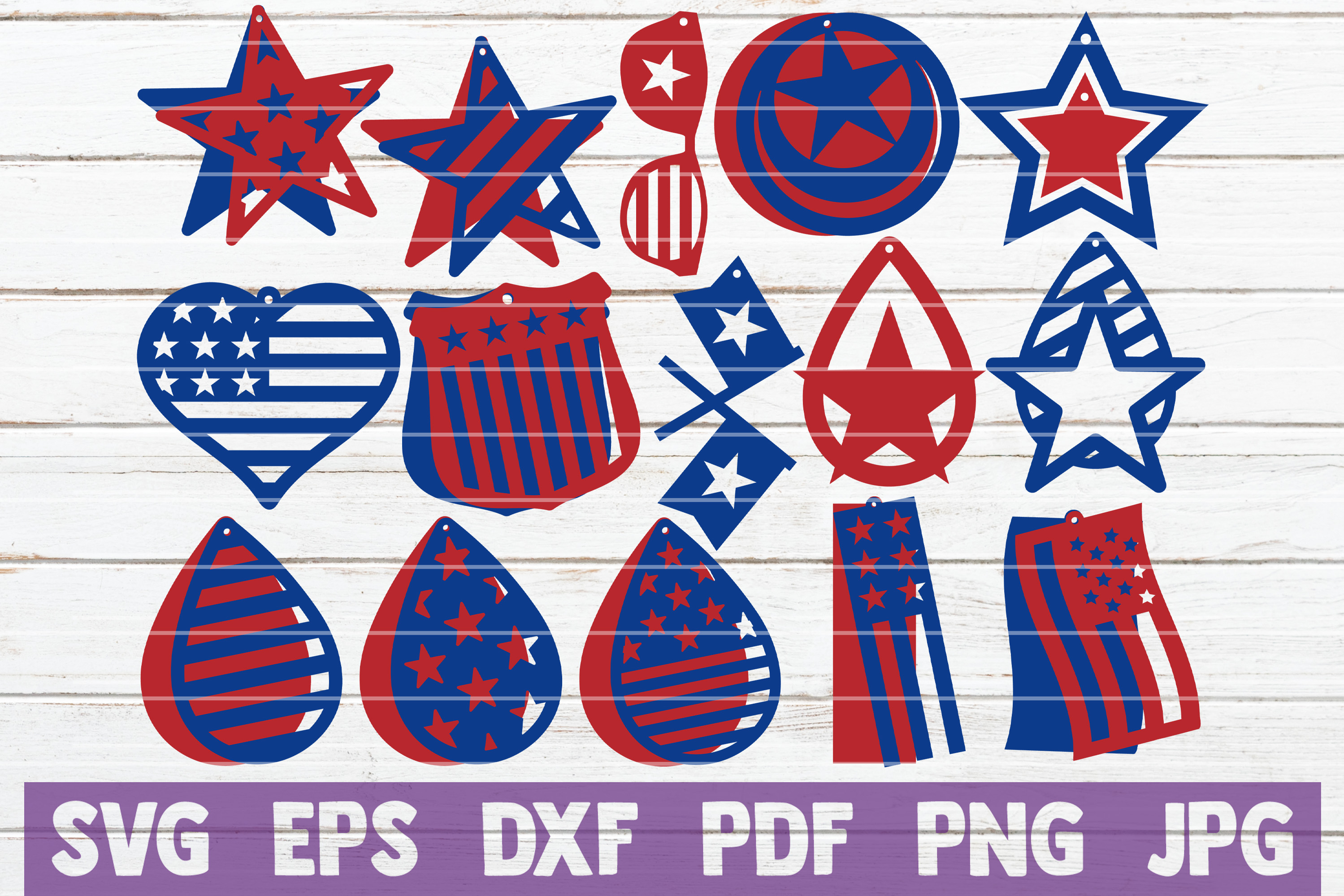 Download Free Usa Earrings Svg Cut Files Graphic By Mintymarshmallows for Cricut Explore, Silhouette and other cutting machines.