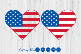 USA Heart Flag Graphic By HD Art Workshop