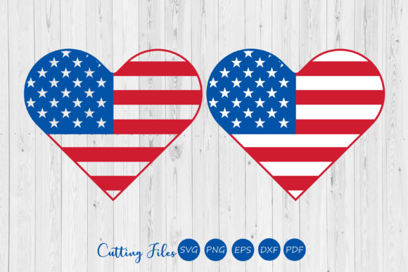 Print on Demand: USA Heart Flag Graphic Crafts By HD Art Workshop