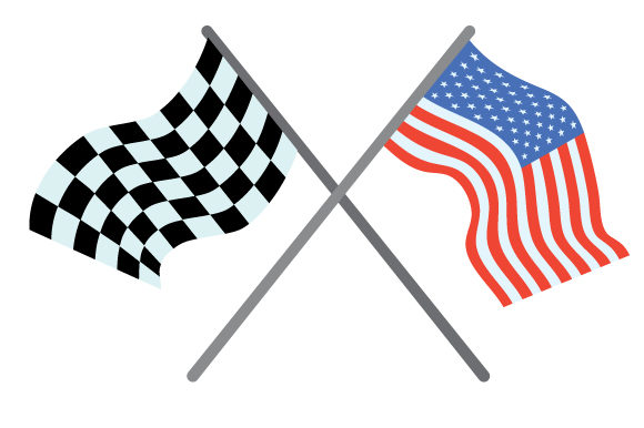 Download Free Usa And Racing Flags Crossing One Another Svg Cut File By for Cricut Explore, Silhouette and other cutting machines.