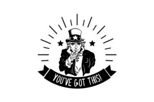 Uncle Sam - You've Got This! Craft Design By Creative Fabrica Crafts