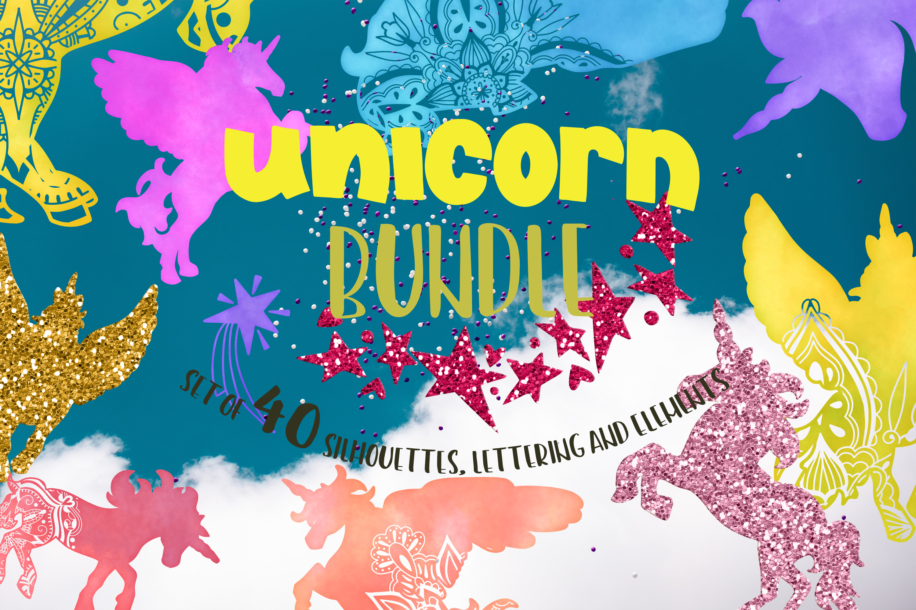 Download Free Unicorn Bundle Mandala Graphic By Svg Story Creative Fabrica for Cricut Explore, Silhouette and other cutting machines.