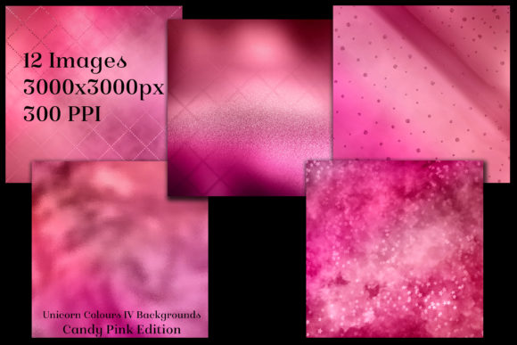 Unicorn Colours Backgrounds IV - Pink Graphic By SapphireXDesigns Image 2