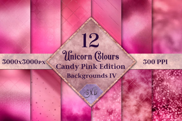 Unicorn Colours Backgrounds IV - Pink Graphic By SapphireXDesigns