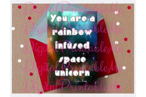 Unicorn Compliment Card Love Galentine Graphic By DigitalPrintableMe