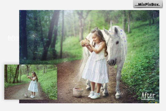 Print on Demand: Unicorn PNG Overlays Pack+ Backdrops Graphic Layer Styles By MixPixBox - Image 2