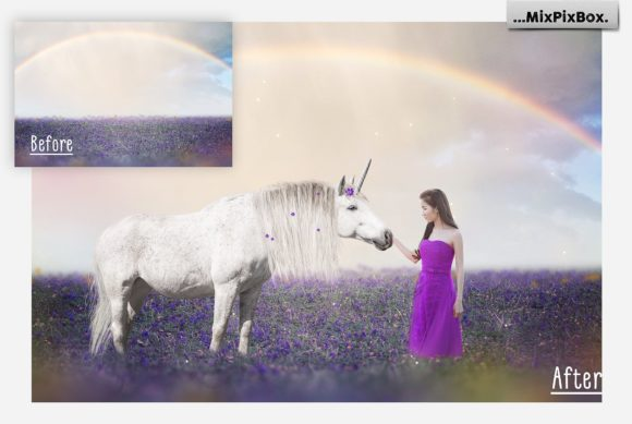 Print on Demand: Unicorn PNG Overlays Pack+ Backdrops Graphic Layer Styles By MixPixBox - Image 3