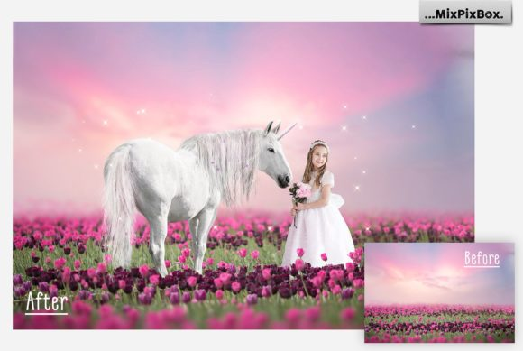 Print on Demand: Unicorn PNG Overlays Pack+ Backdrops Graphic Layer Styles By MixPixBox - Image 4