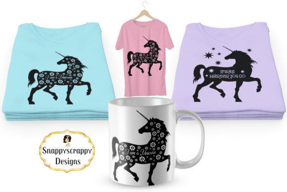 Unicorn - SVG Graphic Illustrations By Snappyscrappy - Image 2