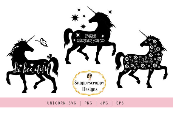 Unicorn  Graphic Illustrations By Snappyscrappy