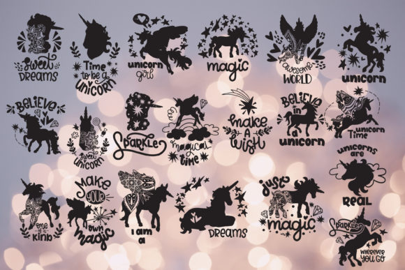 Unicorn Svg Bundle Hand Lettered Quotes Graphic Crafts By SVG Story - Image 2