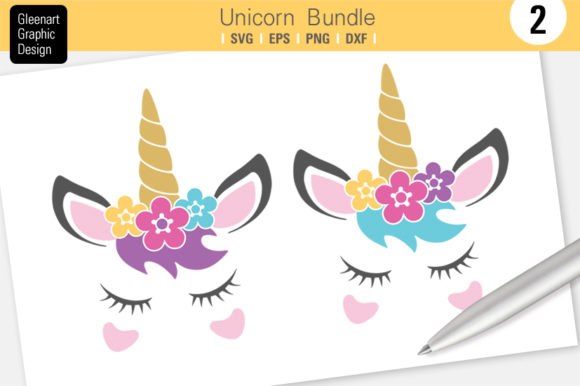Download Free Unicorn Graphic By Gleenart Graphic Design Creative Fabrica for Cricut Explore, Silhouette and other cutting machines.