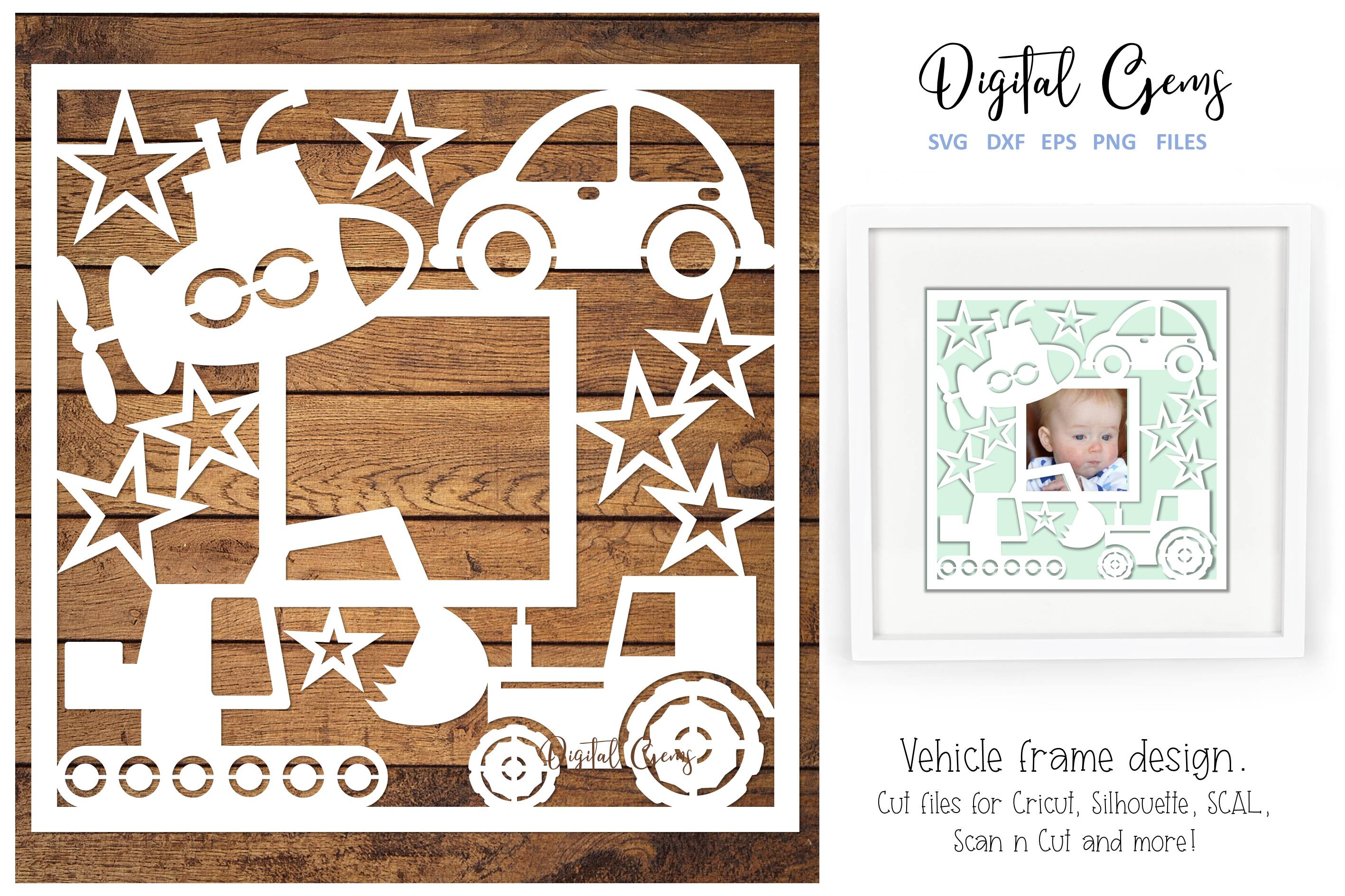 Download Free Vehicle Frame Design Graphic By Digital Gems Creative Fabrica for Cricut Explore, Silhouette and other cutting machines.