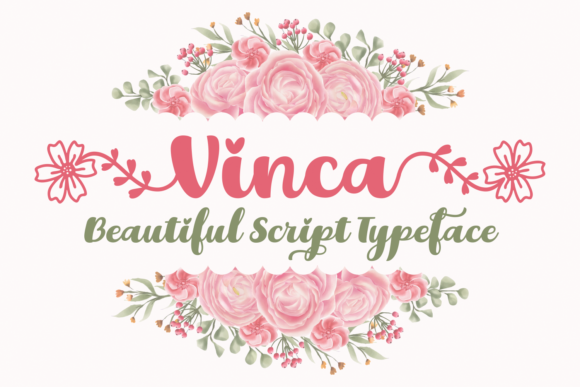 Print on Demand: Vinca Script & Handwritten Font By Situjuh