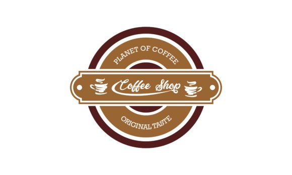 Download Free Vintage Retro Coffee Label Emblem Design Graphic By Deemka for Cricut Explore, Silhouette and other cutting machines.