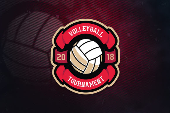 Print on Demand: Volley Academy Sport Logo Graphic Logos By ovoz.graphics - Image 1