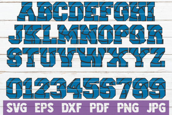 Download Free Volleyball Alphabet And Numbers Svg Graphic By Mintymarshmallows for Cricut Explore, Silhouette and other cutting machines.