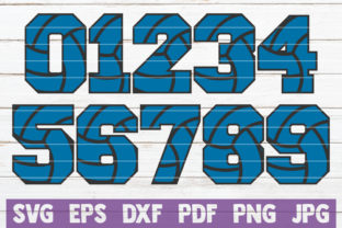 Download Free Volleyball Numbers Cut Files Graphic By Mintymarshmallows for Cricut Explore, Silhouette and other cutting machines.