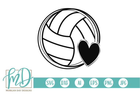 Download Free Volleyball Graphic By Morgan Day Designs Creative Fabrica for Cricut Explore, Silhouette and other cutting machines.